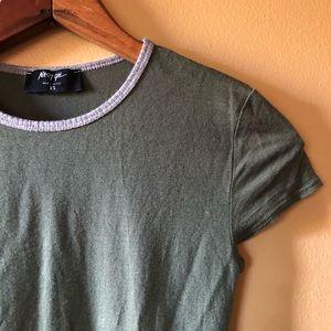 Nasty Gal Green Tshirt Bodysuit XS